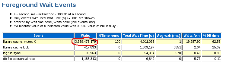 Oracle 11g AWR Report